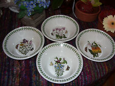 "PORTMEIRION BOTANIC GARDEN SET OF 4 ORIGINAL ELDEST & RAREST MOTIFS 6 3/4"" BOWLS"