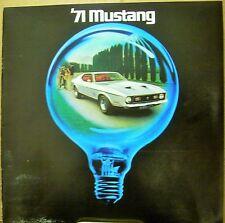Original 1971 Ford Mustang Dealer Sales Brochure Mach 1 Grande Boss 351 REV 1/71