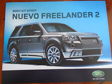 Land Rover Freelander 2 Sports Styling Pack brochure 2007 Spanish text