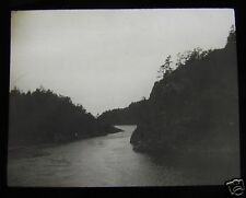 Glass Magic lantern slide NARROW PASS IN FJORD C1920 NORWAY PHOTO