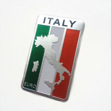 car truck auto Italy Italian flag emblem sticker metal badge decal decor
