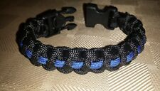 Handcuff key TACTICAL Police Thin Blue Line Paracord Survival Bracelet (Large)