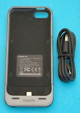 Dark Grey Mophie Juice Pack Helium iPhone 5/5s Case 1500mAh Battery Charger USED