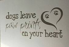 Dog Leave Mylar Reusable Stencil Airbrush Painting Art Craft DIY