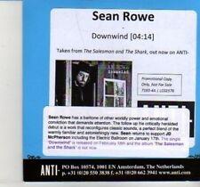 (DI739) Sean Rowe, Downwind - 2013 DJ CD