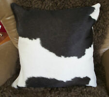 SO BEAUTIFUL! A NATURAL BLACK & WHITE DOUBLE SIDED 50CM SQ COWHIDE CUSHION COVER