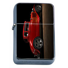 Windproof Refillable Flip Top Oil Lighter Hot Rod D9 Vintage Roadster Car Auto