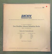 PIERRE FOURNIER BACH CELLO SUITES NO 3 & 4 EARLY ARCHIV MONO LP