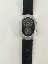 Philip Stein Teslar Watch Stingray Band Box & Papers Authentic Diamond Bezel