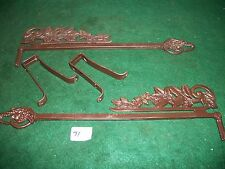 OLD-VINTAGE-ANTIQUE--CAST SWING A WAY- EXTENDING DRAPERY/CURTAIN RODS - 1 set