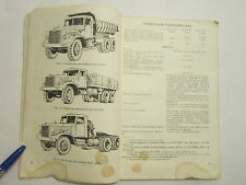 BOOK ARMY TRUCK Vintage KRAZ 256B1-257B1 Soviet Russia Collectable COMMUNIST ERA