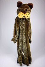 Leopard Mascot Costume Spotted Cat  Faux Fur Jumpsuit Parade Halloween Costume
