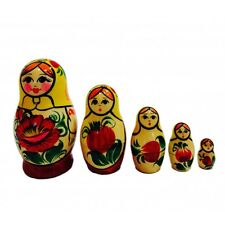 "Nesting Dolls ""Vyatskaya"", 5 Pieces (Russian Matryoshka Babushka Stacking Doll)"