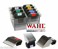 Wahl 8pc STAINLESS STEEL GUIDE ATTACHMENT COMB SET*FIT MOST OSTER,ANDIS CLIPPER