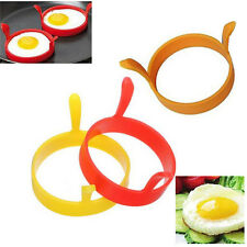 4x Silicone Pancake Fry Egg Ring Frying Fried Egg Round Mold Kitchen Gadget Tool