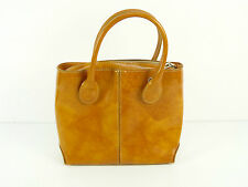 MADE IN ITALY  LEDER HANDTASCHE IN BRAUN !! 100% LEDER & NEU   ( K 8136 )