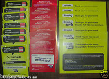 7 Services Guide + 7 Activation Cards Straight Talk service Motorola W418g