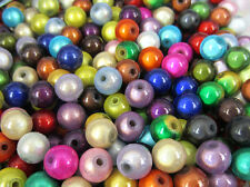 100 x 3D Illusion Miracle Round Arylic Beads 6.0mm Dia Mixed Colours 1/4""
