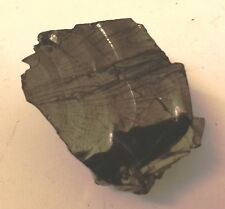 NATURAL NOBLE SHUNGITE PIECE app 2.5 x 2.6 cms 6.11 gms blocks electro-magnetic