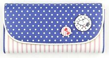 New Peanuts Snoopy PU Leather two folding Wallet Purse W37 Blue&White free ship