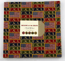 """Moda FABRIC Layer Cake ~ BECAUSE OF THE BRAVE  ~ 42 - 10"""" squares"""