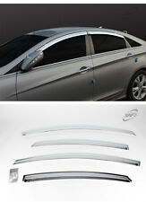 Chrome  Window Vent Visors Rain Guards 4pcs For HYUNDAI Sonata YF 2011 - 2014