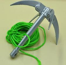 Outdoor Ninja Grappling Hook Tool Folding Boat Wall Anchor Rock Climbing Claw