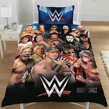 NEW WWE WRESTLING LEGENDS SINGLE DUVET QUILT COVER SET ROCK BOYS KIDS BEDROOM