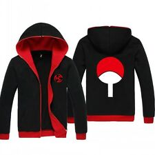 Anime NARUTO Sasuke Uchiha Black Jacket Sweatshirt Hoodie Coat Sweater M-2XL
