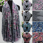 Trendy Fashion Leopard&Flowers Print Long Scarf/Infinity Scarf Mixed 4 Style