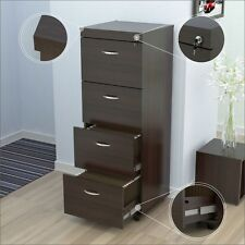Inval Uffici Commercial Collection Four Drawer File Cabinet Espresso-Wengue NEW