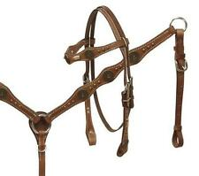 Showman 12 Guage concho headstall and breast collar set! NEW HORSE TACK!