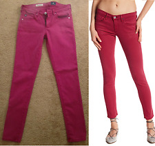 ADRIANO GOLDSCHMIED AG Jeans The Legging Ankle Skinny Stretch Red Size 26R $198