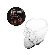 Kristallschädel Schnapsglas für Heim & Bar - Skull Shot Glas für Whiskey & Vodka