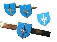 40 Commando Royal Marines Gift Set Military Cufflinks, Lapel Badge, Tie Clip