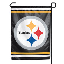 "Pittsburgh Steelers Polyester 11""x15"" Garden Yard Wall Flag NFL"