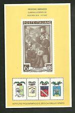 FOGLIETTO ITALIA IPZS 1982 MANIFESTAZIONE EURPHILA ESTATE 82 A PESCARA