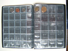 World Coin collection book for holding 250 coins of 27.5mm & 32mm maxi(10pages)