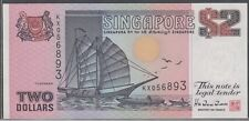 S'pore $2 ship purple TDRL 1992 unc
