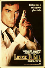 License To Kill - original movie poster - 27x41 Advance - James Bond