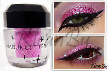 Pink Cosmetic Loose Glitter Powder for Eyeshadow, Nail Art, Body Shimmer Tattoo