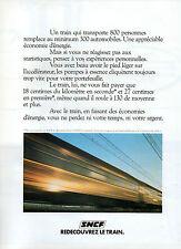 Publicité 1978  SNCF  redécouvrez le train