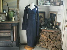 Fabulous Full Length Formal Dark Navy Blue Dress with Rhinestone Accents