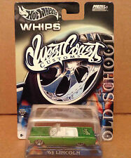 Hot Wheels Whips West Coast Customs green 1963 Lincoln car 1:64 diecast NEW