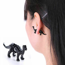 Men and Women Korea Animals Stereo Dinosaur Earrings Ring Punk Piercing Jewelry