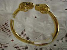 RARE VINTAGE BOOK PIECE KENNETH LANE MARCH 1994 RAMS HEAD SPRING CUFF BRACELET