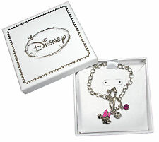 Bracelet Disney, minnie, rhodium, strass, bijou minnie, rose