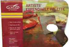"ARTIST 12"" x 9""  DISPOSABLE WAXED PAPER PALETTE PAD OIL & ACRYLIC PAINTS PP912"