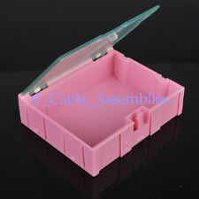 20pcs Big SMT SMD Kit anti-static Laboratory components storage boxes Pink NEW
