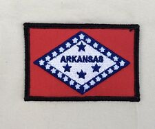 Arkansas State Flag Patch W/Black Boarder Embroidered Iron On